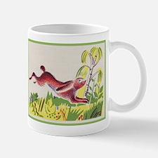 leaping rabbit Mug