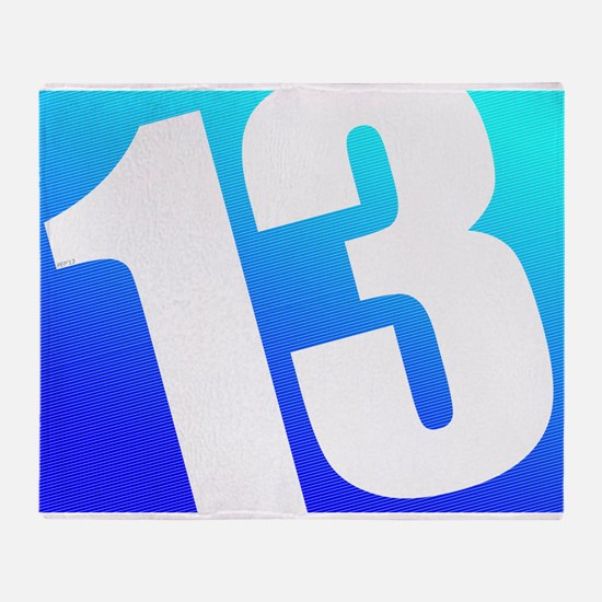 Number 13 Throw Blanket