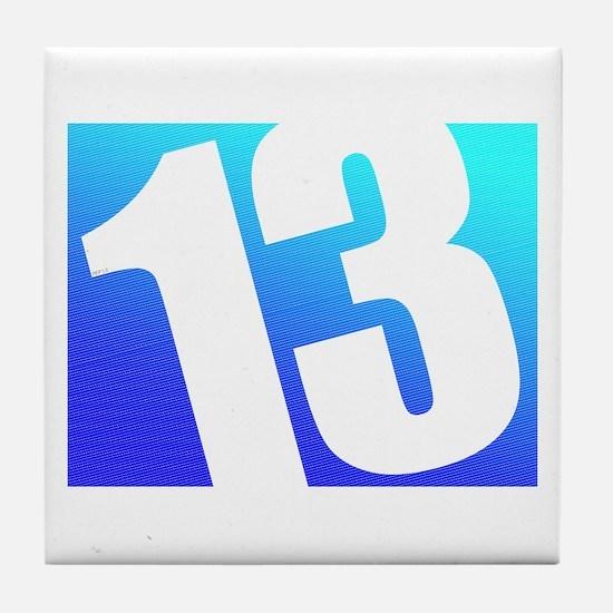 Number 13 Tile Coaster