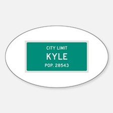 Kyle, Texas City Limits Decal