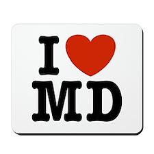 I Love MD (maryland)  Mousepad