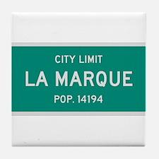 La Marque, Texas City Limits Tile Coaster