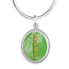 Akamai Silver Oval Necklace
