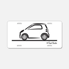 Smart Fortwo side Aluminum License Plate
