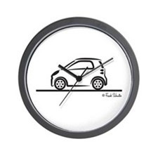 Smart Fortwo side Wall Clock