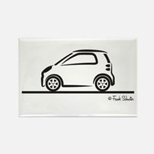 Smart Fortwo side Rectangle Magnet