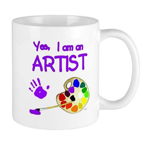 01-yes-im-an-artist-brush-n-palette-TR Mugs