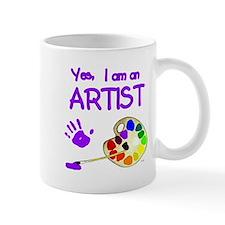01-yes-im-an-artist-brush-n-palette-TR Mugs