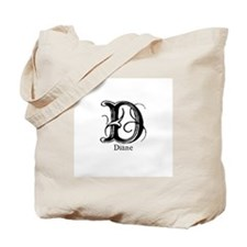Diane: Fancy Monogram Tote Bag
