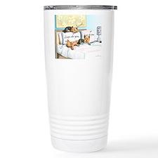 Sleeps with Yorkies Travel Mug