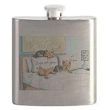 Sleeps with Yorkies Flask