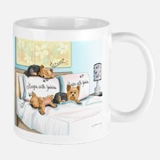 Sleeps with Yorkies Mug