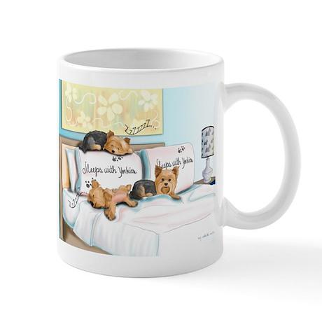 Sleeps with Yorkies Mug