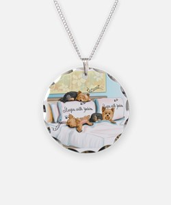 Sleeps with Yorkies Necklace
