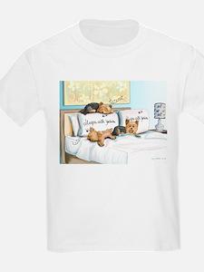 Sleeps with Yorkies T-Shirt