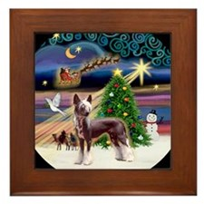 Funny Chinese crested Framed Tile