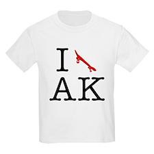 I Skateboard Alaska Kids T-Shirt