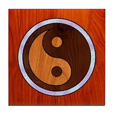 Inlaid Yin Yang Tile Coaster
