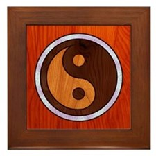 Inlaid Yin Yang Framed Tile