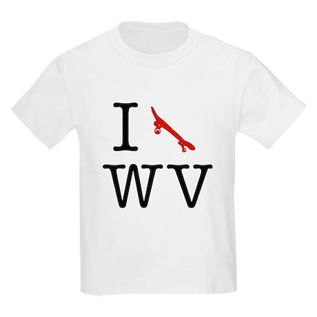 I Skateboard West Virginia Kids T-Shirt