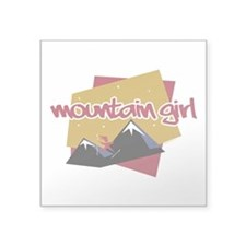 Mountain Girl Square Sticker 3x3