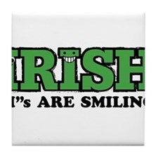 "Irish ""I""s Are Smiling Tile Coaster"