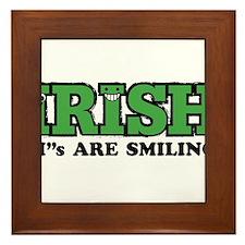 """Irish """"I""""s Are Smiling Framed Tile"""