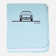 Alfa Romeo Spider Duetto Front baby blanket