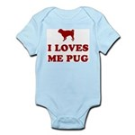 I LOVES ME PUG - Baby creeper