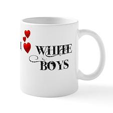 I Love White Boys Small Mug
