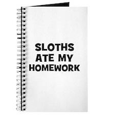 Sloths Ate My Homework Journal