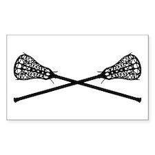 Crossed Lacrosse Sticks Stickers