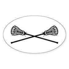 Crossed Lacrosse Sticks Decal