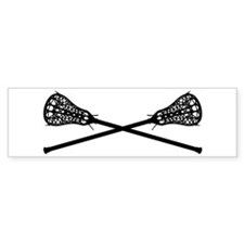 Crossed Lacrosse Sticks Bumper Bumper Sticker