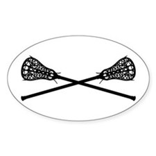 Crossed Lacrosse Sticks Bumper Stickers