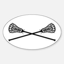 Crossed Lacrosse Sticks Bumper Stickers