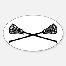 Crossed Lacrosse Sticks Decal