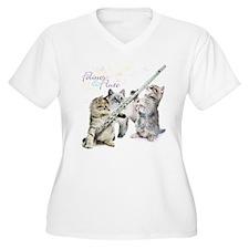 Felines & Flute Plus Size T-Shirt