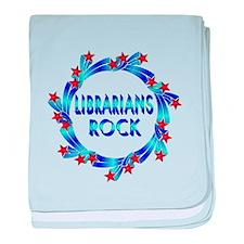 Librarians Rock baby blanket