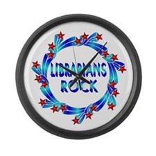 Librarians Rock Large Wall Clock