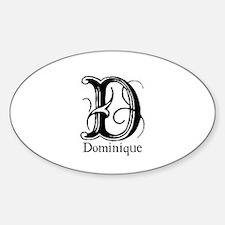 Dominique: Fancy Monogram Oval Decal