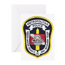 DC Metro Police Dive Team Greeting Cards (Package
