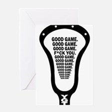 Lacrosse_GoodGame_blk Greeting Card