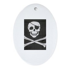 Jolly Roger Oval Ornament