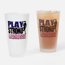 Girl's Lacrosse Drinking Glass