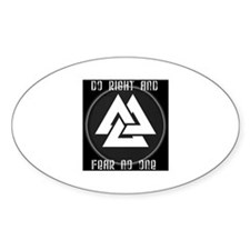 ASATRU VOLKNOT DO RIGHT  ODINIST SYMBOL Decal