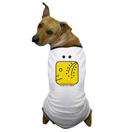 YELLOW Lunar HUMAN Dog T-Shirt