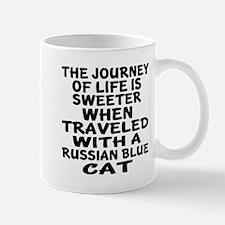 Traveled With russian blue Cat Mug