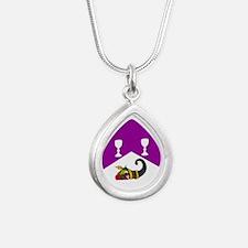 Helene's Silver Teardrop Necklace