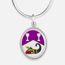 Helene's Silver Oval Necklace
